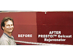 One Happy customer after using PRESTO! Gelcoat Rejuvenator™