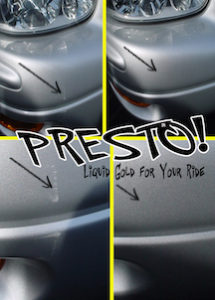 PRESTO! PRO™ Eliminated this Scuff withOne Simple Wipe! Saved the owner over one hundred bucks and at least one day without the car.