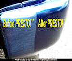 Truck bumper before and after PRESTO! PRO™